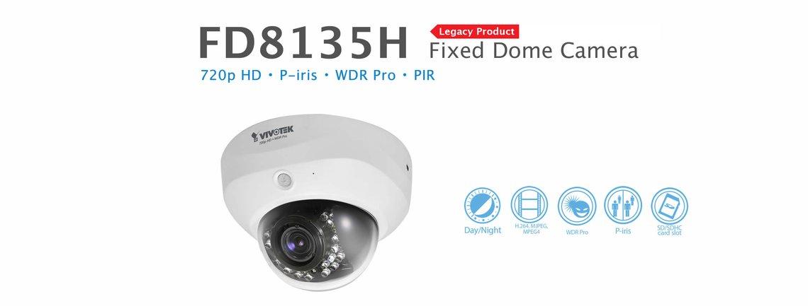 Vivotek FD8134 Megapixel Dome IP POE Network Security Camera